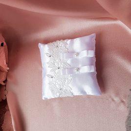 Подушка для колец белая №11