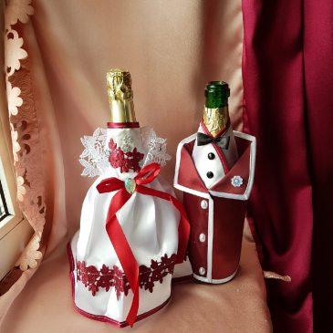 Одежда на бутылки бордо на шампанское №25 ( съемная )