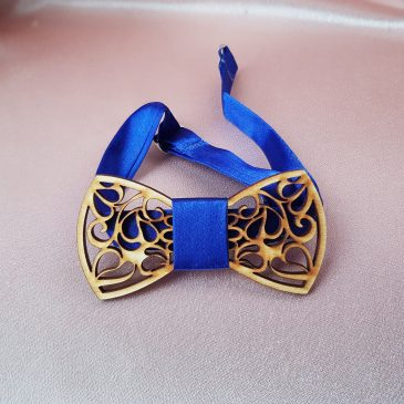 Галстук-бабочка деревянная №4