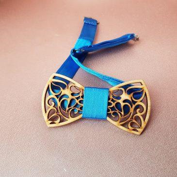 Галстук-бабочка деревянная №5