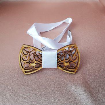 Галстук-бабочка деревянная №13