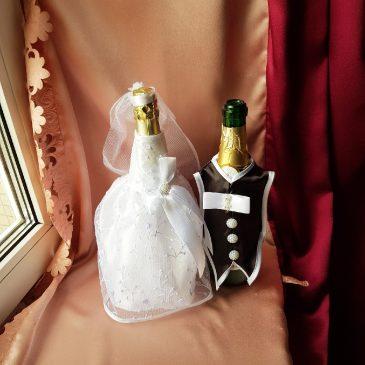 Одежда на бутылки на шампанское №34 ( съемная )