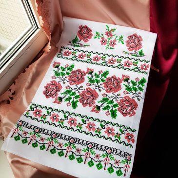 Рушник Орнамент розы №56