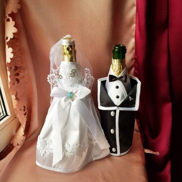 Одежда на бутылки на шампанское №24 ( съемная )