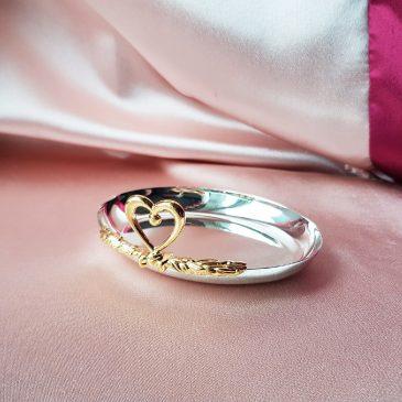 Свадебная подушка для колец Тарелочка №36
