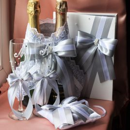 Свадебный набор Серебро №6
