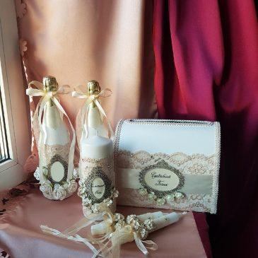 Свадебный набор Айвори кружевной №2