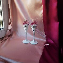 Свадебные бокалы Пион №37