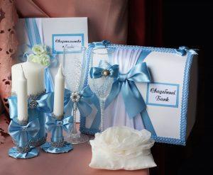 Свадебный набор Голубой №15