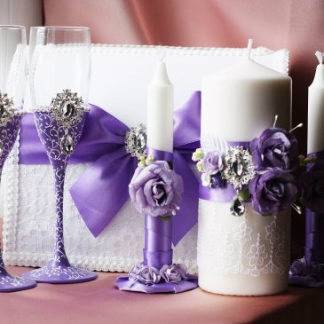 Свадебный набор Сиреневый №5