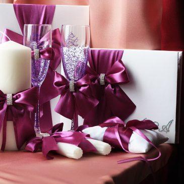 Свадебный набор Фиолетовый №13