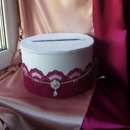 Свадебный сундук для денег Пион №15