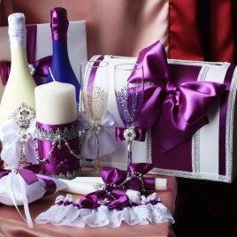 Свадебный набор Фиолетовый №12
