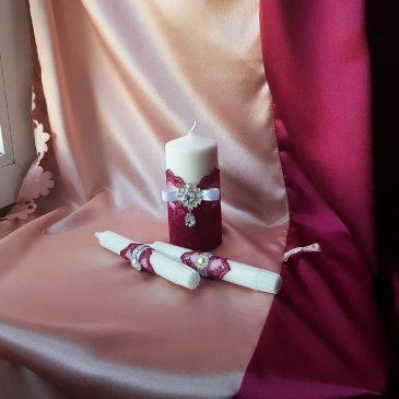 Свадебные свечи Пион №19