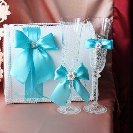 Свадебный набор Бирюзовый №17