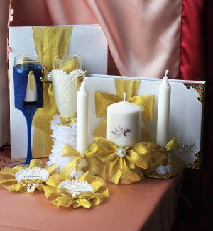 Свадебный набор Золотой №3