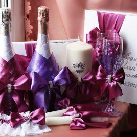 Свадебный набор Фиолетовый №11