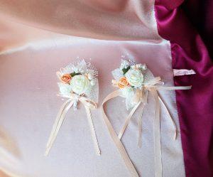 Свадебные бокалы Изящество с айвори №33
