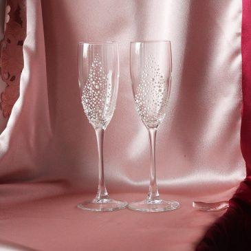 Свадебные бокалы полужемчуг №43