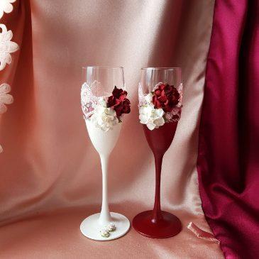Свадебные бокалы Аврора №40