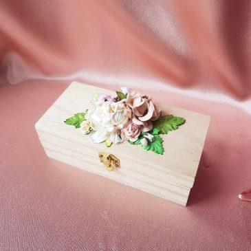 Шкатулка для свадебных колец свадебная  №41