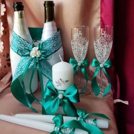 Свадебный набор Изумруд №21