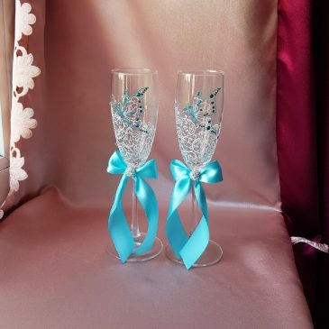 Свадебные бокалы Бабочки №46
